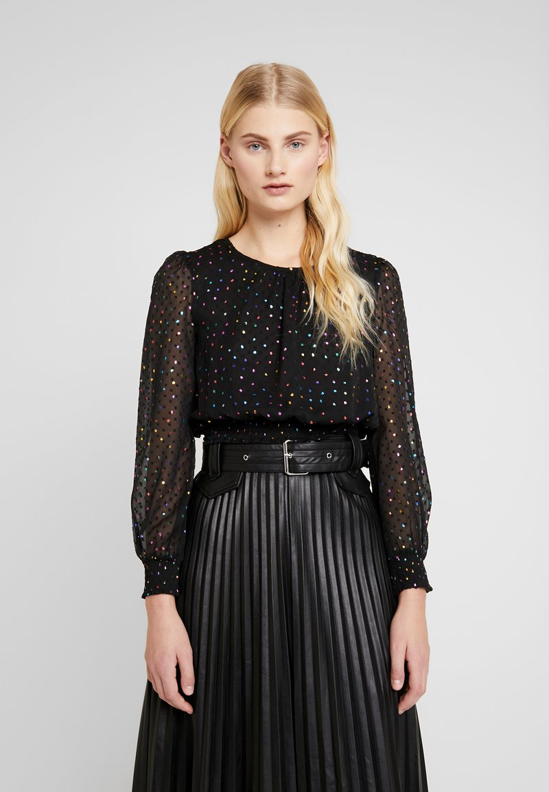 Dorothy Perkins - LOLA SKYE MULTI DOT - Blouse - black