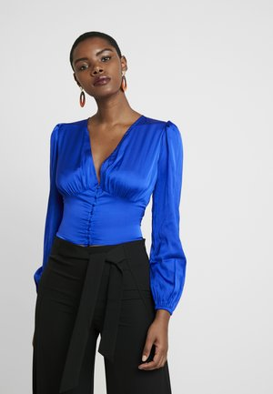 LOLA SKYE BUTTON THROUGH - Blouse - cobalt