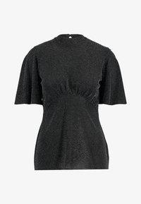Dorothy Perkins - FLUTTER SLEEVE - T-shirt med print - silver - 4