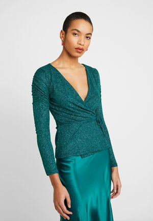 RUCHED SLEEVE WRAP - Langærmede T-shirts - green