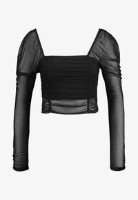 Dorothy Perkins - LOLA SKYE LONG SLEEVE RUCHE - Långärmad tröja - black - 4