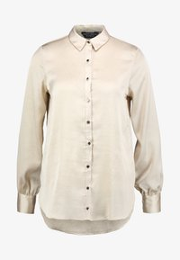 Dorothy Perkins - BUTTON THROUGH LONGLINE SHIRT - Camicetta - gold - 3