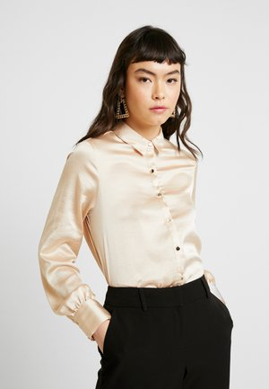 BUTTON THROUGH LONGLINE SHIRT - Blouse - gold