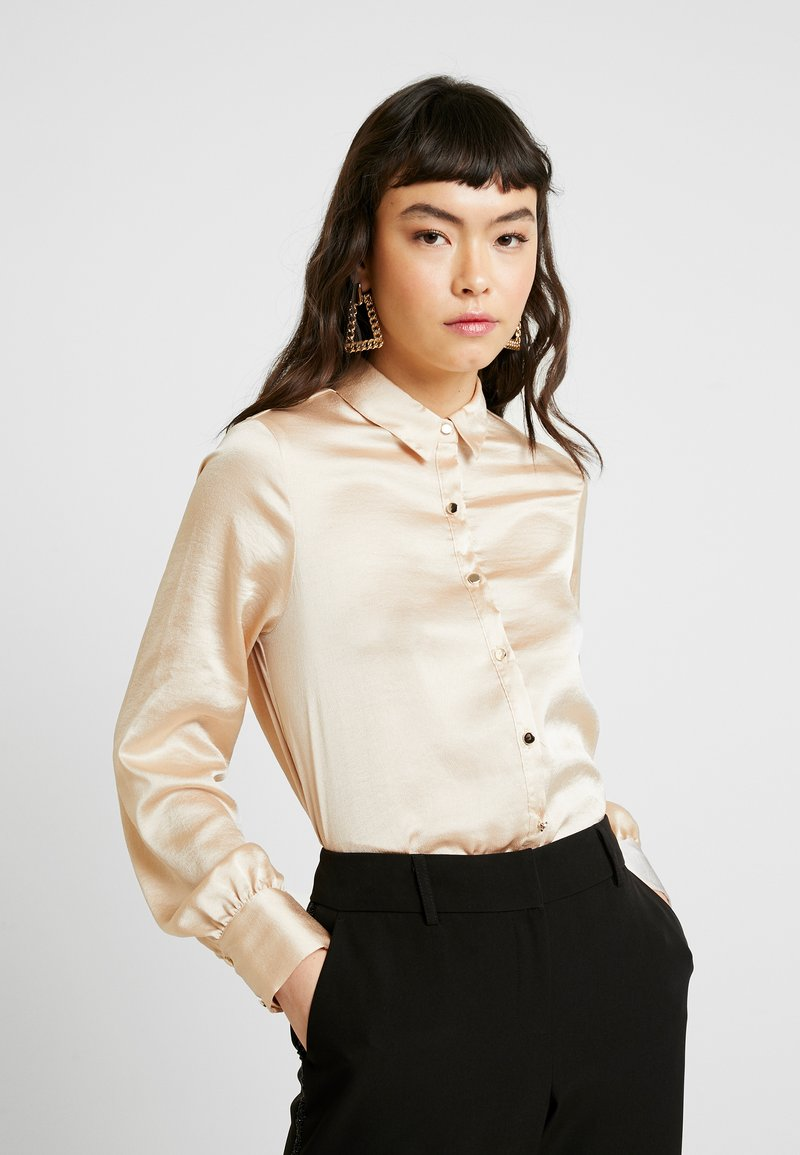 Dorothy Perkins - BUTTON THROUGH LONGLINE SHIRT - Camicetta - gold