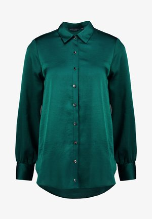 BUTTON THROUGH LONGLINE SHIRT - Blouse - emerald