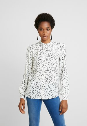HEART PRINT ROLL SLEEVE - Blouse - ivory