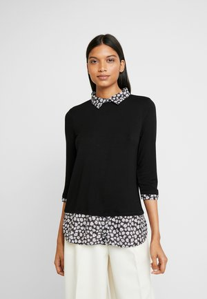 DAISY PRINT - Blouse - black