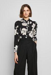 Dorothy Perkins - LONG LINE SHIRT - Camisa - black - 0