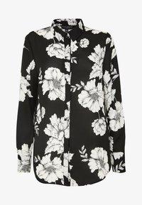 Dorothy Perkins - LONG LINE SHIRT - Camisa - black - 6