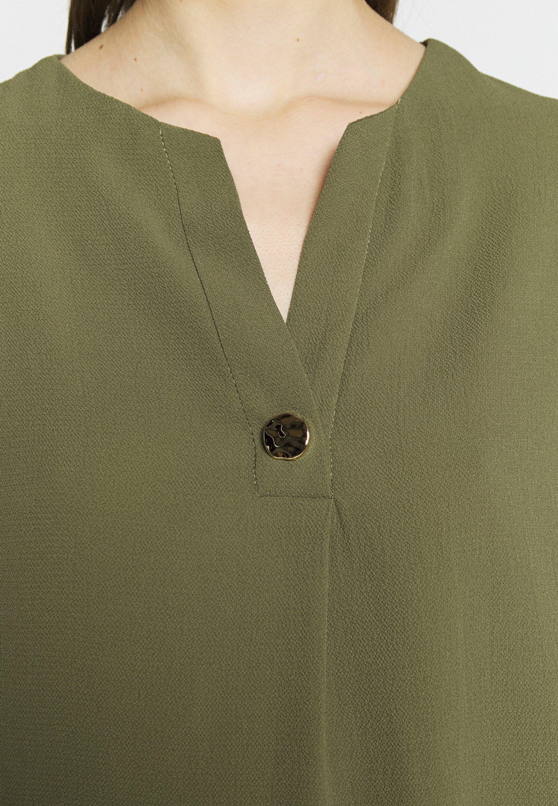 Dorothy Perkins SUSTAINABLE UTILITY DROP SHOULDER - Blouse - khaki