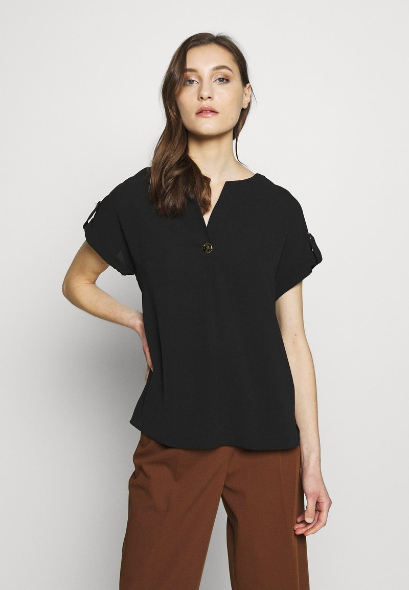 Dorothy Perkins - SUSTAINABLE UTILITY DROP SHOULDER - Blouse - black
