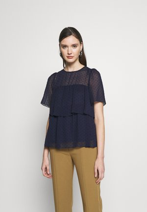 TIERED TOP - Blůza - navy
