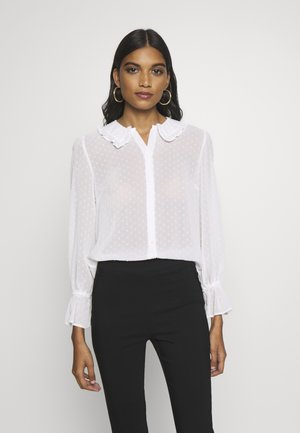 COLLARED CUFF - Button-down blouse - ivory