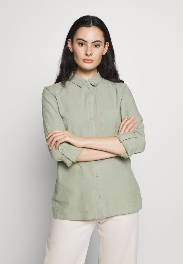 CLOSED COLLAR - Button-down blouse - sage