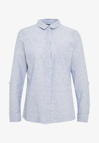 Dorothy Perkins - CLOSED COLLAR - Button-down blouse - chambray - 5