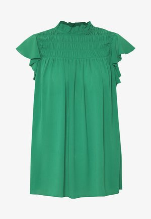 SHEERED RUFFLE TOP - Blouse - green