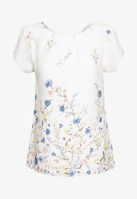 Dorothy Perkins - BILLIE AND BLOSSOM FLORAL BOARDER SHELL - Blouse - white - 4