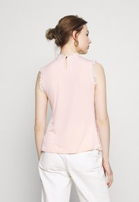 Dorothy Perkins - BILLIE BLACK LABEL BLUSH LACE RUFFLE NECK SHELL TOP - Bluser - blush - 2