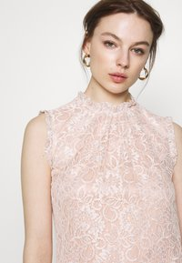 Dorothy Perkins - BILLIE BLACK LABEL BLUSH LACE RUFFLE NECK SHELL TOP - Bluser - blush - 5