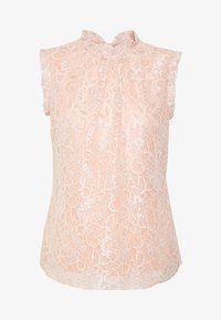Dorothy Perkins - BILLIE BLACK LABEL BLUSH LACE RUFFLE NECK SHELL TOP - Bluser - blush - 4