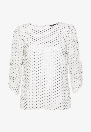 IVORY SPOT ROUCHED SLEEVE DETAIL - Camicetta - ivory