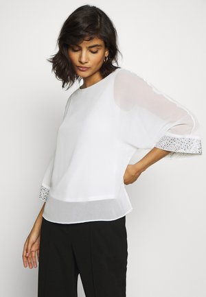 EMBELLISHED CUFF BATWING  - Bluse - off-white