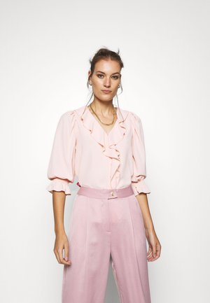 RUFFLE FRONT SHIRT - Blouse - blush