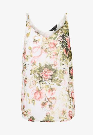 FLORAL PRINTED SEQUIN CAMI - Bluser - blush
