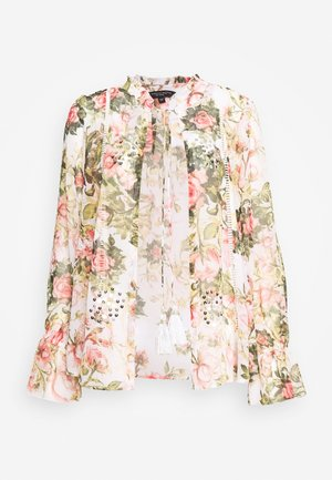 FLORAL PRINTED SEQUIN COVER UP - Summer jacket - blush