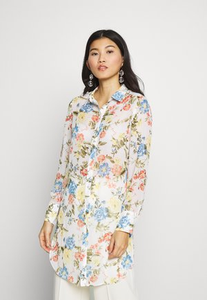 FLORAL LONG LINE - Camicia - ivory