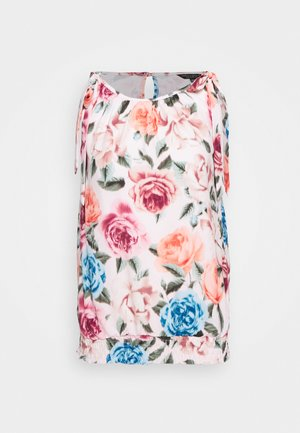 BLURRED FLORAL BOW SHOULDER SLEEVELESS - Blůza - blush