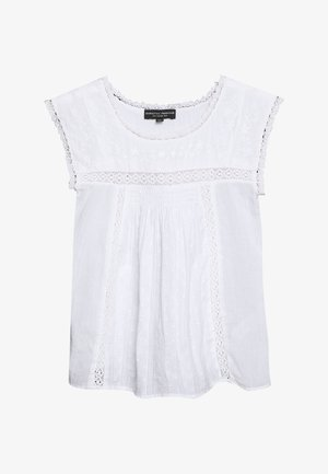EMBROIDERED - Blusa - ivory