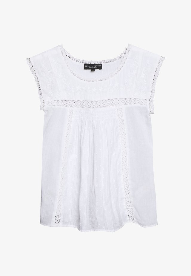 EMBROIDERED - Blouse - ivory
