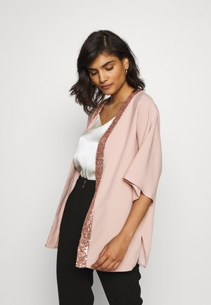 SEQUIN TRIM COVER UP - Summer jacket - blush