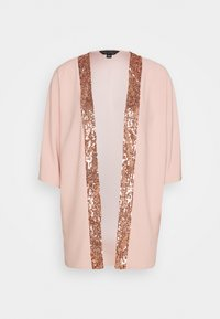 Dorothy Perkins - SEQUIN TRIM COVER UP - Veste légère - blush - 4