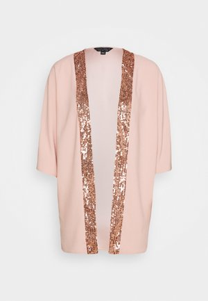 SEQUIN TRIM COVER UP - Leichte Jacke - blush
