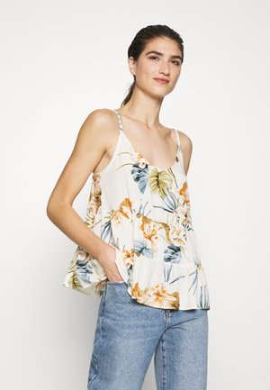 TROPICAL TIERED CAMI - Topper - stone