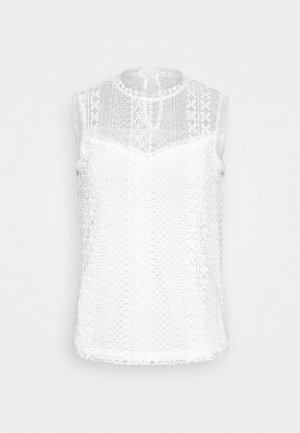 SLEEVELESS LACE BLOUSE - Bluser - white