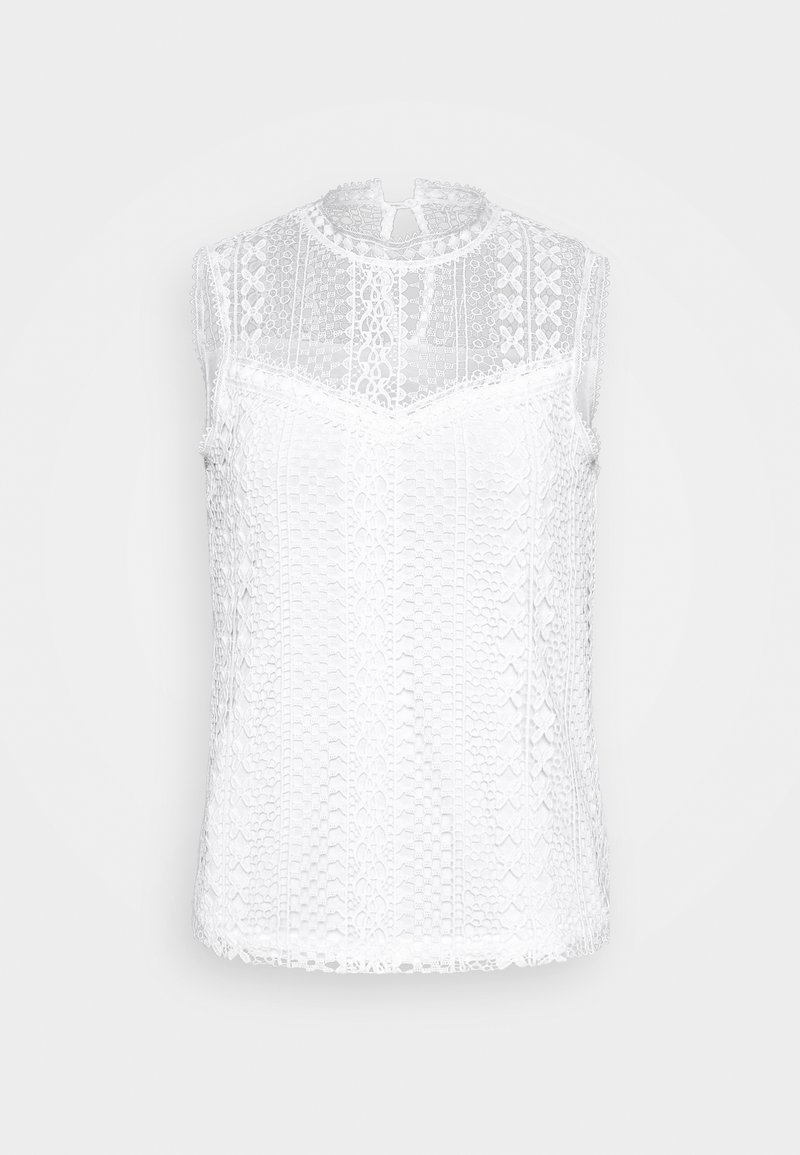 Dorothy Perkins - SLEEVELESS LACE BLOUSE - Bluse - white