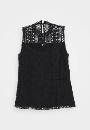 SLEEVELESS LACE BLOUSE - Blůza - black