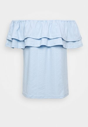TEXT TIER BARDOT - Blouse - blue