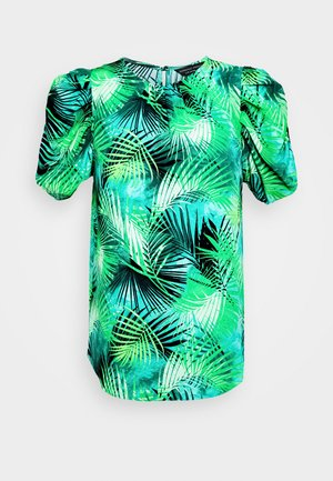 GREEN TROPICAL TEE - Bluzka - green