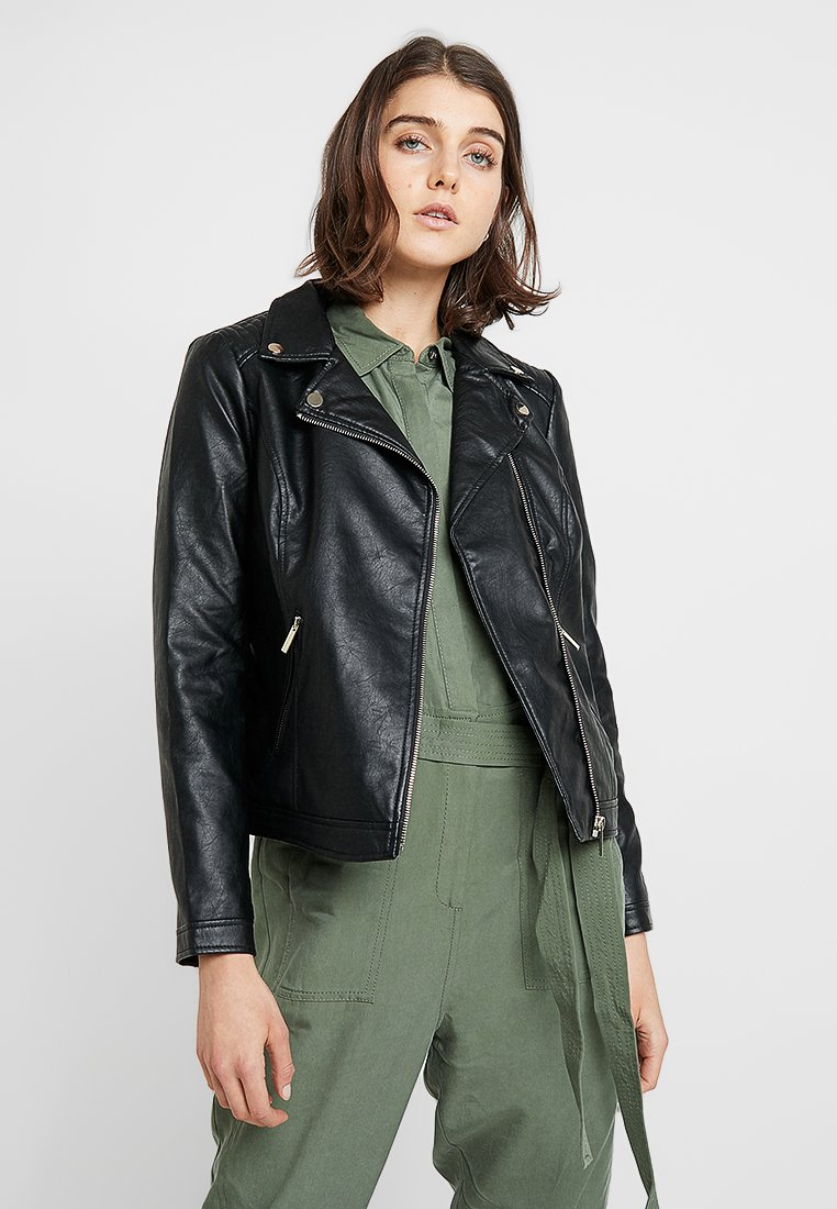 Dorothy Perkins - BIKER - Faux leather jacket - black