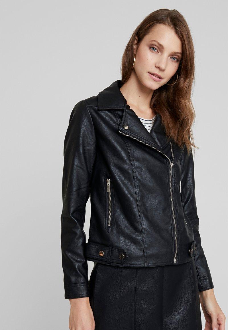 Dorothy Perkins - BIKER JACKET - Faux leather jacket - black