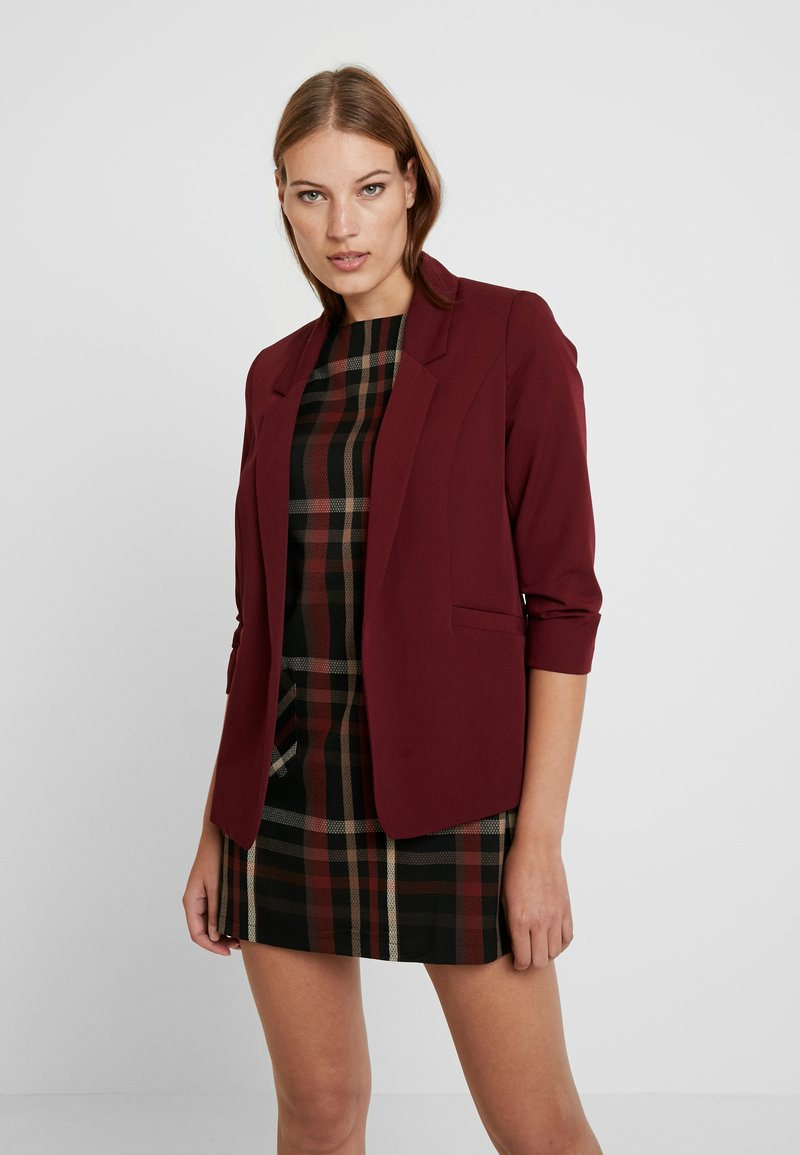 Dorothy Perkins - RUCHED SLEEVE JACKET - Żakiet - bordeaux