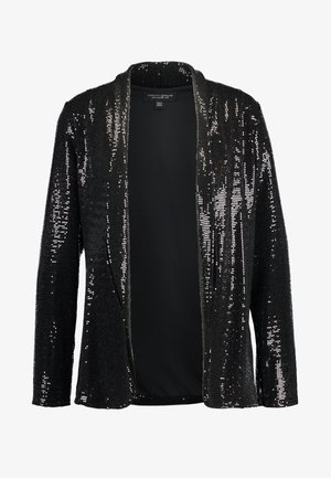 SEQUIN - Short coat - black