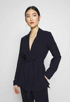 BELTED D RING JACKET - Bleiseri - navy blue