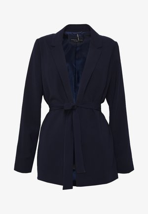 BELTED D RING JACKET - Blazer - navy blue