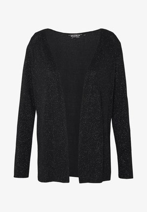 GLITTER EDGE TO EDGE COVER UP - Cardigan - black