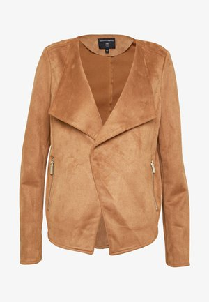 SUEDETTE WATERFALL JACKET - Giacca in similpelle - tan